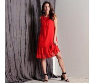 Červené letné šaty